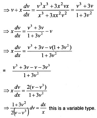 Plus Two Maths Chapter Wise Questions and Answers Chapter 9 Differential Equations 6M Q1