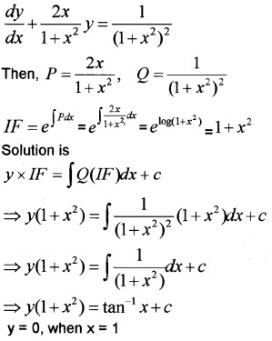 Plus Two Maths Chapter Wise Questions and Answers Chapter 9 Differential Equations 6M Q6