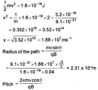 Plus Two Physics Chapter Wise Questions and Answers Chapter 4 Moving Charges and Magnetism 5M Q8.2