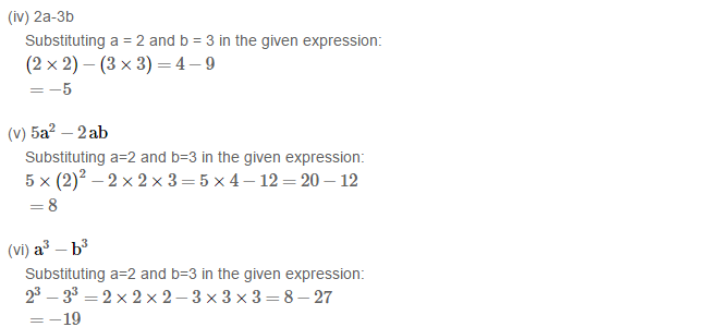 Algebraic Expressions RS Aggarwal Class 6 Maths Solutions Exercise 8B 1.2