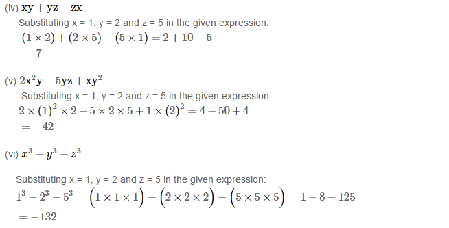 Algebraic Expressions RS Aggarwal Class 6 Maths Solutions Exercise 8B 2.2