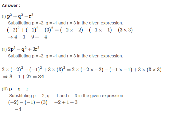 Algebraic Expressions RS Aggarwal Class 6 Maths Solutions Exercise 8B 3.1