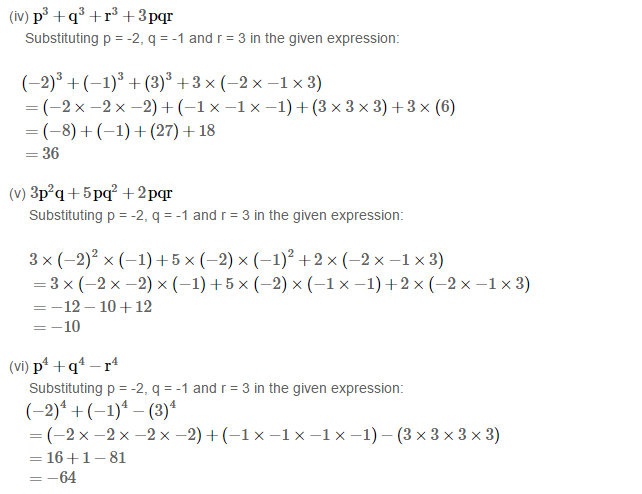 Algebraic Expressions RS Aggarwal Class 6 Maths Solutions Exercise 8B 3.2