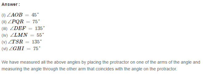 Angles and Their Measurement RS Aggarwal Class 6 Maths Solutions Ex 13C 1.1