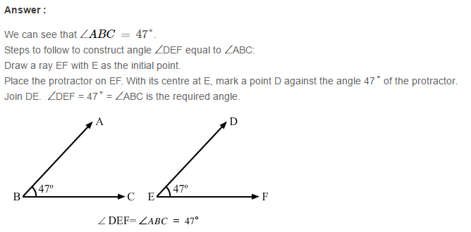 Angles and Their Measurement RS Aggarwal Class 6 Maths Solutions Ex 13C 3.1