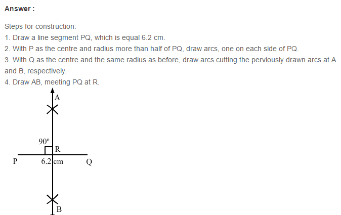 Constructions RS Aggarwal Class 6 Maths Solutions CCE Test Paper 15.1