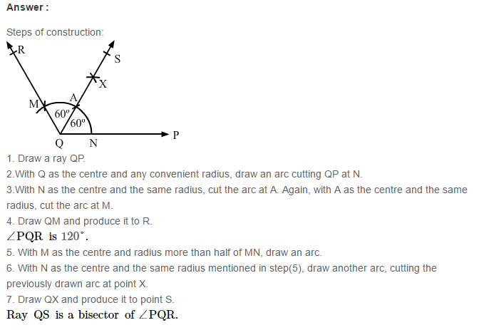 Constructions RS Aggarwal Class 6 Maths Solutions CCE Test Paper 4.1