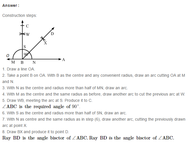 Constructions RS Aggarwal Class 6 Maths Solutions CCE Test Paper 5.1