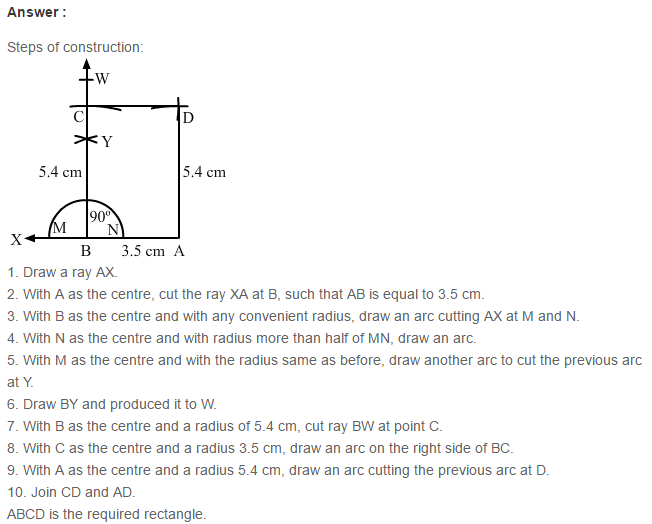 Constructions RS Aggarwal Class 6 Maths Solutions CCE Test Paper 6.1