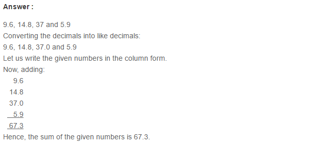 Decimals RS Aggarwal Class 6 Maths Solutions Exercise 7C 1.1