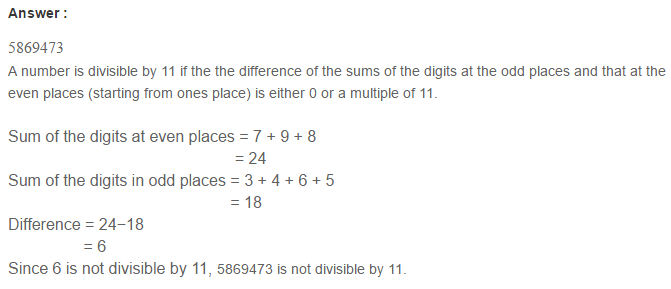 Factors and Multiples RS Aggarwal Class 6 Maths Solutions CCE Test Paper 1.1