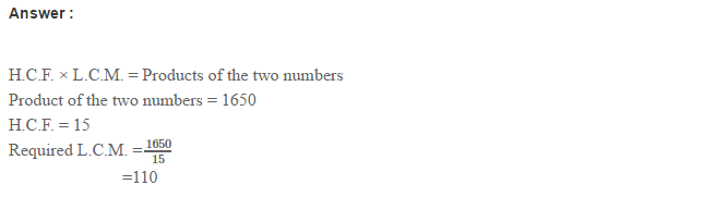 Factors and Multiples RS Aggarwal Class 6 Maths Solutions CCE Test Paper 4.1