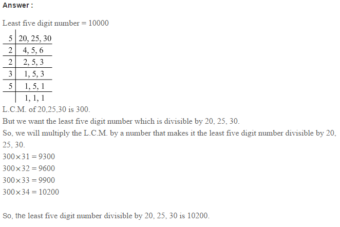 Factors and Multiples RS Aggarwal Class 6 Maths Solutions CCE Test Paper 5.1