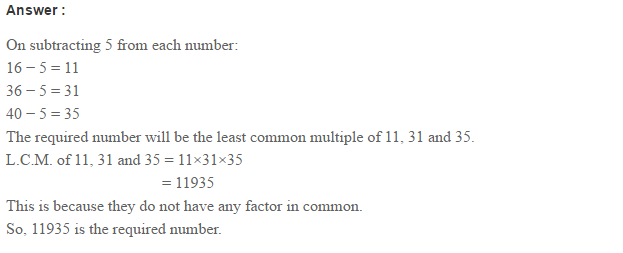 Factors and Multiples RS Aggarwal Class 6 Maths Solutions CCE Test Paper 7.1