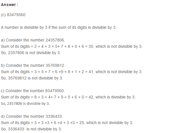 Factors and Multiples RS Aggarwal Class 6 Maths Solutions Ex 2F 1.1