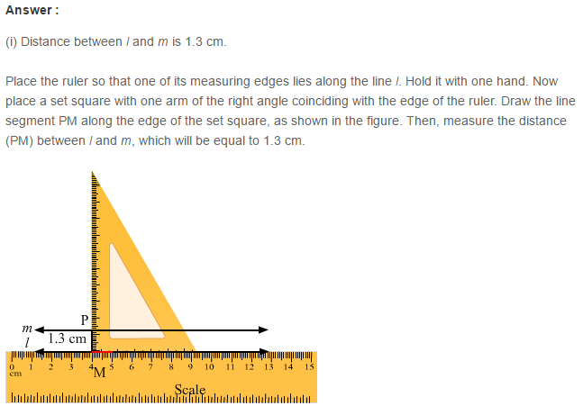 Parallel Lines RS Aggarwal Class 6 Maths Solutions 4.1