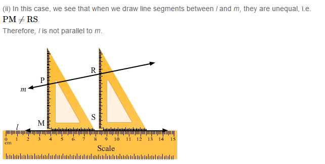 Parallel Lines RS Aggarwal Class 6 Maths Solutions 7.2