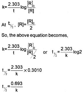 Plus Two Chemistry Chapter Wise Questions and Answers Chapter 4 Chemical Kinetics 3M Q1