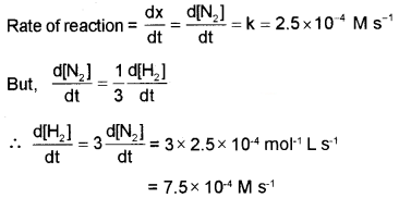 Plus Two Chemistry Chapter Wise Questions and Answers Chapter 4 Chemical Kinetics 3M Q13.1