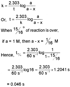 Plus Two Chemistry Chapter Wise Questions and Answers Chapter 4 Chemical Kinetics 3M Q14