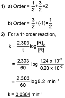 Plus Two Chemistry Chapter Wise Questions and Answers Chapter 4 Chemical Kinetics 4M Q7
