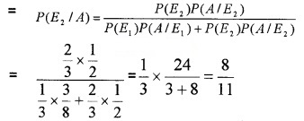 Plus Two Maths Chapter Wise Questions and Answers Chapter 13 Probability 4M Q11