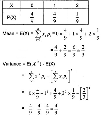 Plus Two Maths Chapter Wise Questions and Answers Chapter 13 Probability 6M Q11