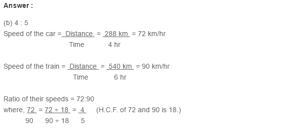 Ratio Proportion and Unitary Method RS Aggarwal Class 6 Maths Solutions CCE Test Paper 10.1