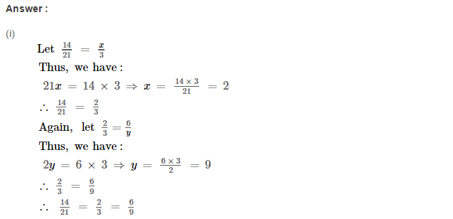 Ratio Proportion and Unitary Method RS Aggarwal Class 6 Maths Solutions CCE Test Paper 18.1