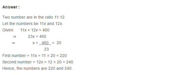 Ratio Proportion and Unitary Method RS Aggarwal Class 6 Maths Solutions Ex 10A 1.15