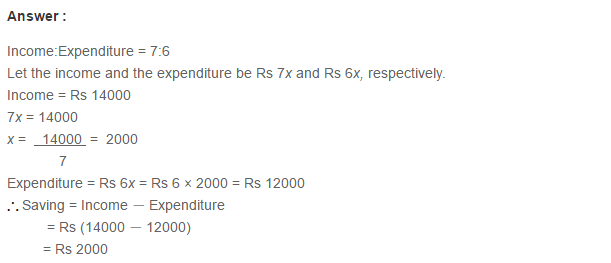 Ratio Proportion and Unitary Method RS Aggarwal Class 6 Maths Solutions Ex 10A 1.21