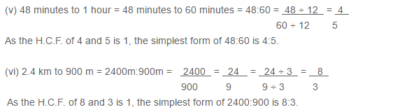Ratio Proportion and Unitary Method RS Aggarwal Class 6 Maths Solutions Ex 10A 1.5