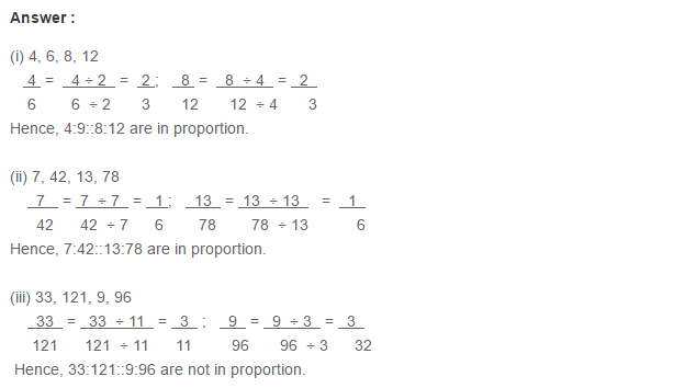 Ratio Proportion and Unitary Method RS Aggarwal Class 6 Maths Solutions Ex 10B 1.1