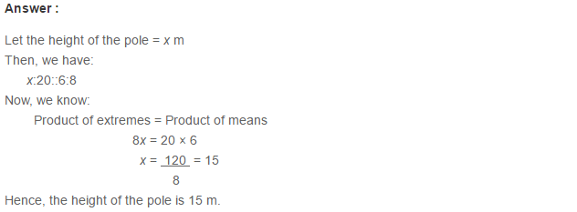 Ratio Proportion and Unitary Method RS Aggarwal Class 6 Maths Solutions Ex 10B 10.1