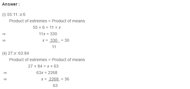 Ratio Proportion and Unitary Method RS Aggarwal Class 6 Maths Solutions Ex 10B 3.1