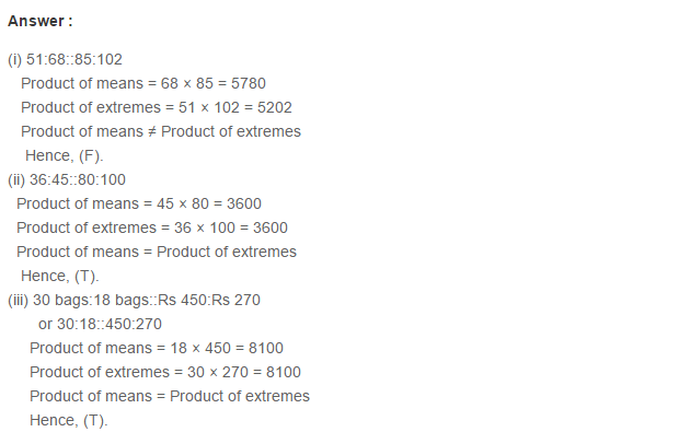 Ratio Proportion and Unitary Method RS Aggarwal Class 6 Maths Solutions Ex 10B 4.1