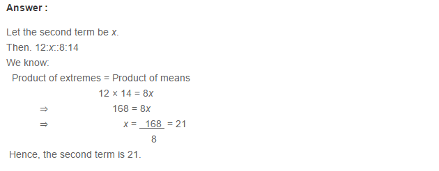 Ratio Proportion and Unitary Method RS Aggarwal Class 6 Maths Solutions Ex 10B 7.1