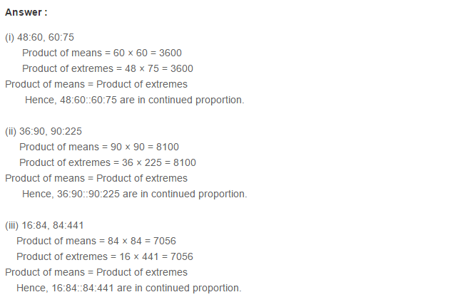 Ratio Proportion and Unitary Method RS Aggarwal Class 6 Maths Solutions Ex 10B 8.1