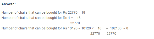 Ratio Proportion and Unitary Method RS Aggarwal Class 6 Maths Solutions Ex 10C 11.1