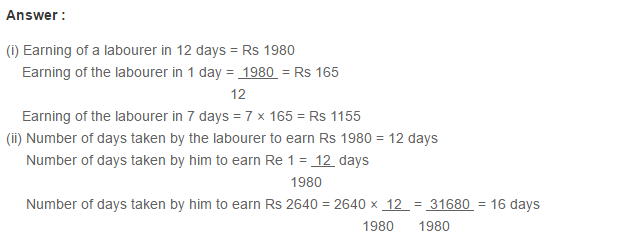 Ratio Proportion and Unitary Method RS Aggarwal Class 6 Maths Solutions Ex 10C 13.1