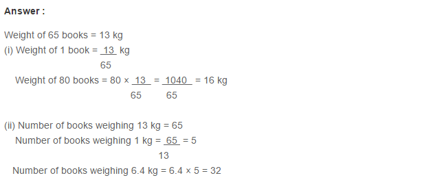 Ratio Proportion and Unitary Method RS Aggarwal Class 6 Maths Solutions Ex 10C 14.1
