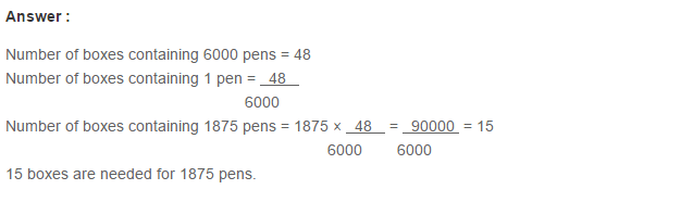 Ratio Proportion and Unitary Method RS Aggarwal Class 6 Maths Solutions Ex 10C 15.1