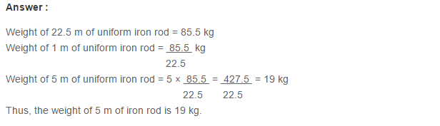 Ratio Proportion and Unitary Method RS Aggarwal Class 6 Maths Solutions Ex 10C 4.1