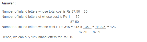 Ratio Proportion and Unitary Method RS Aggarwal Class 6 Maths Solutions Ex 10C 9.1