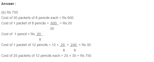 Ratio Proportion and Unitary Method RS Aggarwal Class 6 Maths Solutions Ex 10D 21.1