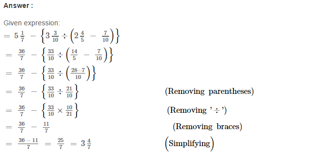 Simplification RS Aggarwal Class 6 Maths Solutions Exercise 6A 10.1