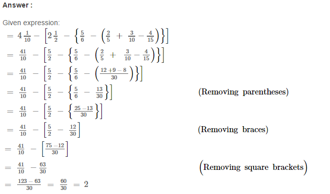 Simplification RS Aggarwal Class 6 Maths Solutions Exercise 6A 12.1