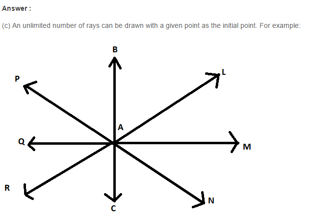 line Segment Ray and Line RS Aggarwal Class 6 Maths Solutions Ex 11B 15.1