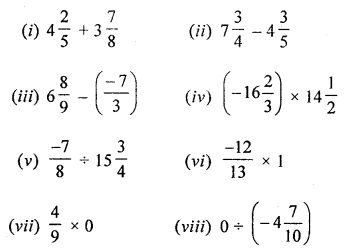 ML Aggarwal Class 8 Solutions for ICSE Maths Chapter 1 Rational Numbers Check Your Progress Q1.1