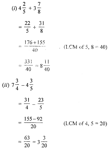 ML Aggarwal Class 8 Solutions for ICSE Maths Chapter 1 Rational Numbers Check Your Progress Q1.2